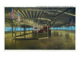 Cleveland  Ohio - Euclid Beach; Interior View of Rollerskating Rink