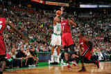 Miami Heat v Boston Celtics - Game Three  Boston  MA - MAY 7: Ray Allen  Chris Bosh and Dwyane Wade