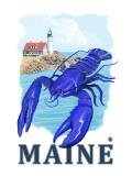 Blue Lobster &amp; Portland Lighthouse - Maine
