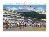 Miami  Florida - Hialeah Park; Parading to the Post Scene