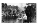 Wisconsin Dells  Wisconsin - High Rock from Romance Cliff  Steamer