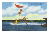 Cypress Gardens  Florida - View of Clowns Waterskiing