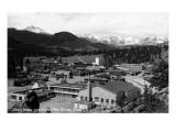Estes Park  Colorado - Snowy Mountains from Town