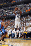 Oklahoma City Thunder v Memphis Grizzlies  - Game Four  Memphis  TN - MAY 9: OJ Mayo and Thabo Se