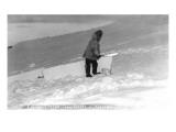Kotzebue  Alaska - Eskimo Cutting Igloo Snow Blocks