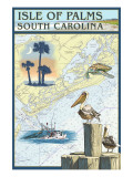 Isle of Palms  South Carolina - Nautical Chart
