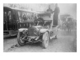 Armored Automobile Juxtaposed With Trolley Car &amp; Horse Team on a City Street In Turkey