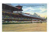 Saratoga Springs  New York - Racetrack View of Clubhouse  Band Stand