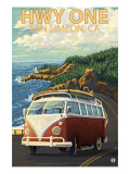 San Simeon  CA - VW Van Coastal Drive