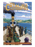 Catalina Island  California - Steamer Coming to Avalon