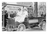 Washington Poster Advertising Company Truck Carries Suffragettes