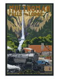 Multnomah Falls - Train and Cars