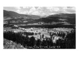 Dillon  Colorado - Panoramic View of Town from Lake Hill