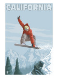 California - Snowboarder Jumping