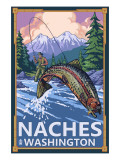 Naches  Washington - Fisherman