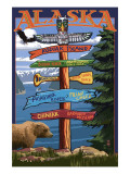 Kodiak Island  Alaska - Destination Sign
