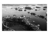 Sitka  Alaska - Aerial View of Town