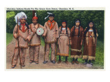 North Carolina - Cherokee Indians Ready for Green Corn Dance