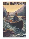 New Hampshire - Canoe on Rapids