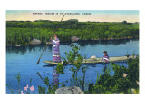 Everglades Nat'l Park  Florida - Seminole Indians in Longboat