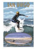 San Diego  California - Surfer Scene
