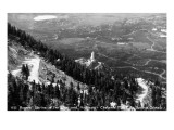 Colorado - Aerial View of Shrine of the Sun  Colorado Springs from Cheyenne Mt