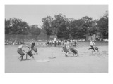 Children In Wheel Barrow Race
