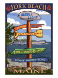 York Beach  Maine - Sign Destinations