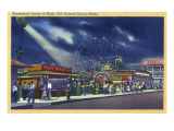 Old Orchard Beach  Maine - Amusement Center at Night View
