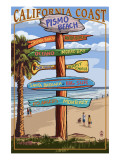 Pismo Beach  California - Destination Sign