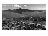 Missoula  Montana - Panoramic View of Town