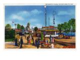 Chicago  Illinois - Worlds Fair; Enchanted Island Scene