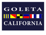 Goleta  California - Nautical Flags