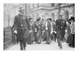 Suffragettes  Preceded By Policemen  Leaving City Hall  New York