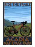 Acadia National Park  Maine - Bicycle Scene