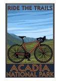 Acadia National Park  Maine - Bicycle Scene