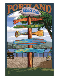 Portland  Oregon Destinations Sign