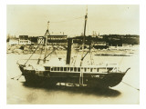 Steam Paddlewheeler at Anchor in Bay