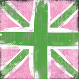 Union Jack Pink And Green