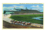 Inglewood  California - Hollywood Turf Club View of a Horse Race