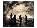 Ice Cave with Party  Mount Rainier  Undated