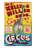 &quot;Al G Kelly &amp; Miller Bros 2nd Largest Circus: the Tallest Animal on Earth&quot;  Circa 1941