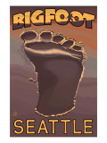 Seattle  Washington Bigfoot Footprint