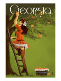 Georgia Peach Orchard Pinup Girl