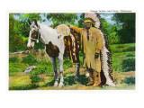 Oklahoma - Osage Indian and Pony