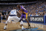 Los Angeles Lakers v Dallas Mavericks - Game Four  Dallas  TX - MAY 8: Kobe Bryant and DeShawn Stev