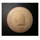 Plaster Cast Medallion Study For the Corporate Seal of Seattle  1869