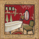 Red Bathroom Tub