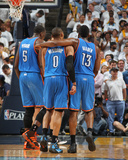 Oklahoma City Thunder v Memphis Grizzlies - Game Four  Memphis  TN - MAY 9: Russell Westbrook  Jame