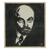 Block Print of Vladimir Lenin
